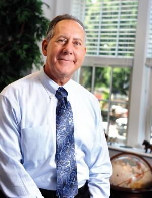 Dr. Joe Zublena in his office