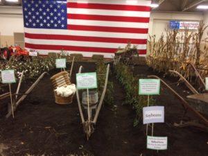 Row crops w/ American Flag